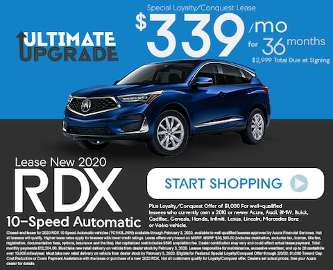 Lease New 2020 Acura RDX 10-Speed Automatic