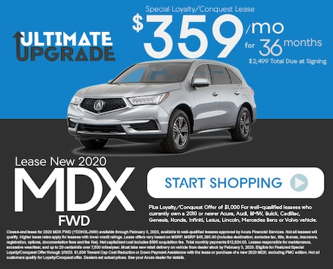 Lease New 2020 Acura MDX FWD