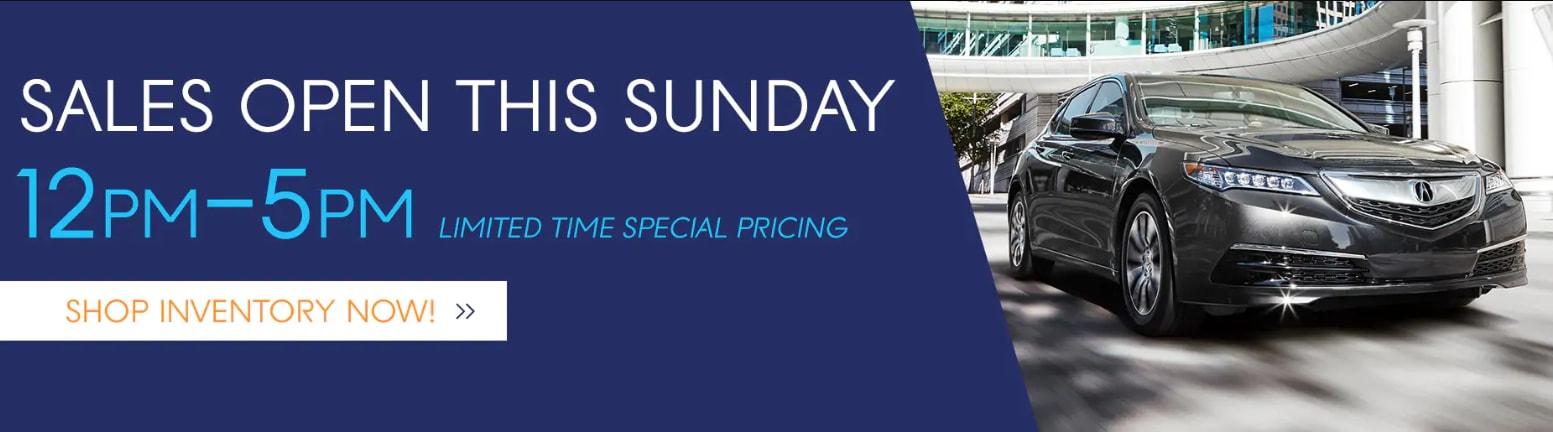 Acura Carland Open Sundays In Duluth Ga