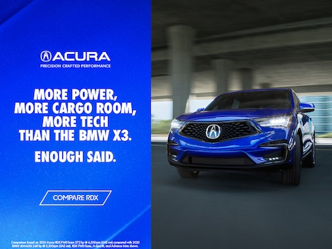 Compare the Acura RDX to the BMW X3