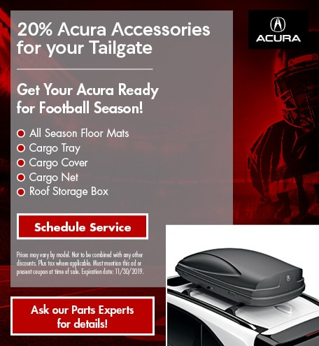 20% Acura Accessories for your Tailgate