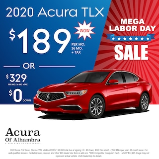 Lease a New 2010 TLX for $189 Per Month + Tax