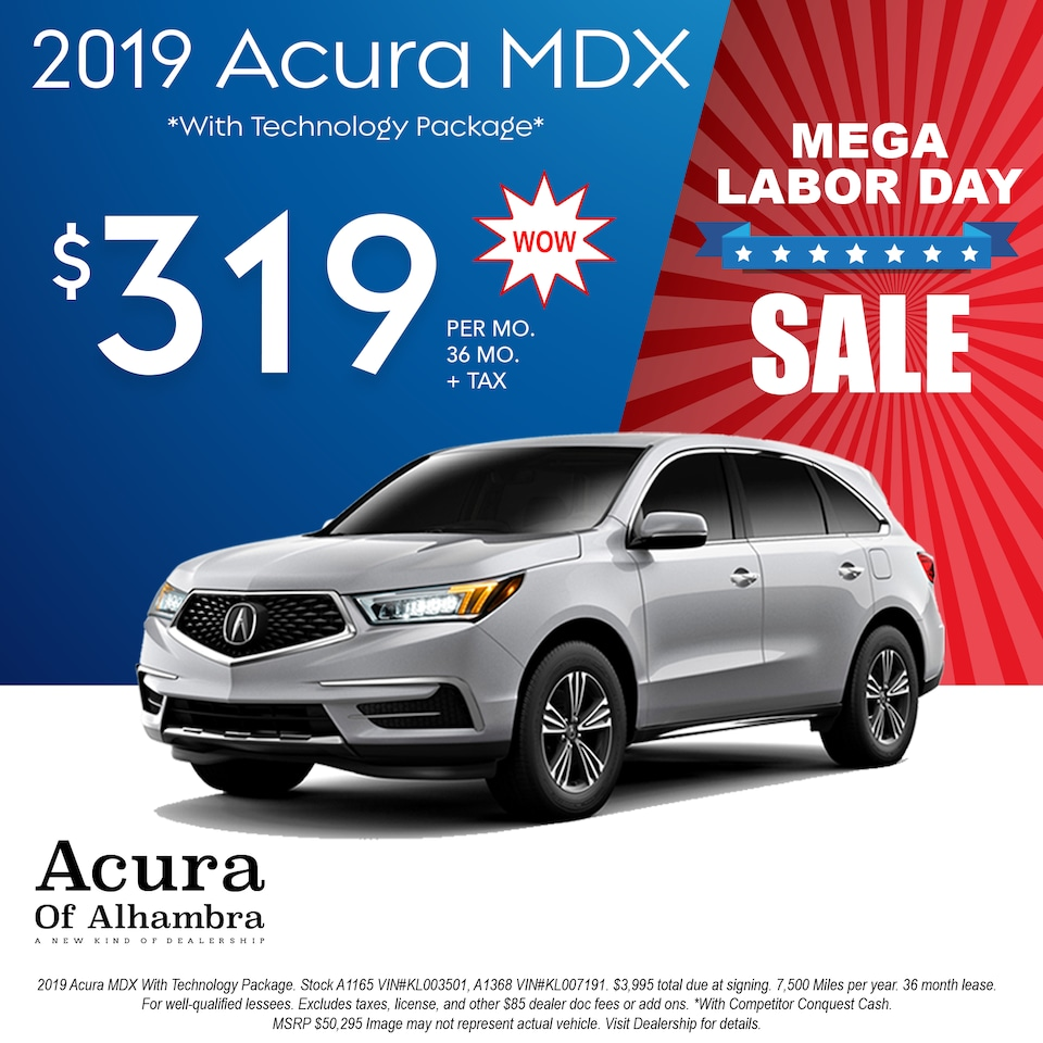 Lease a New MDX for $319 Per Month + Tax