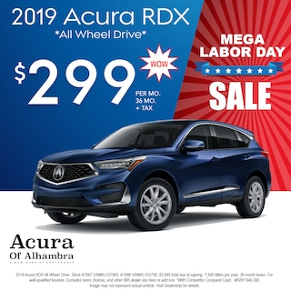 Lease a New RDX for $299 Per Month + Tax