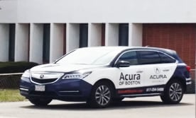 Our Acura of Boston shuttles are easy to spot!