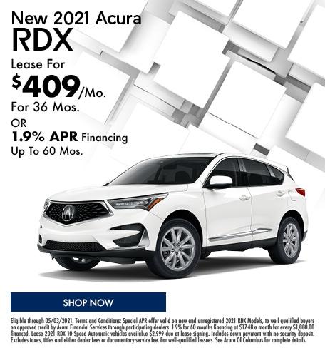 New 2021 Acura RDX   April