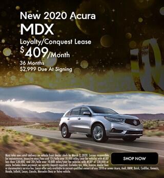 New 2020 Acura MDX - January Special