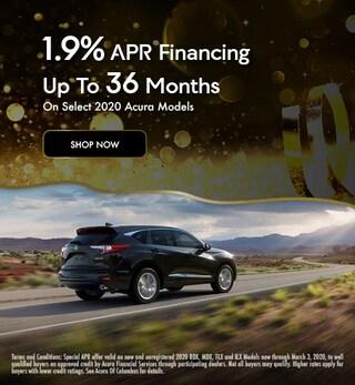 1.9% APR On Select 2020 Models