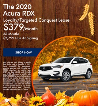 New 2020 Acura RDX - November Special