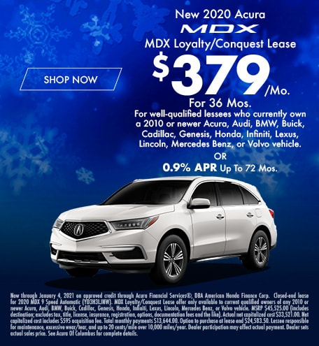 New 2020 Acura MDX Loyalty/Conquest Lease