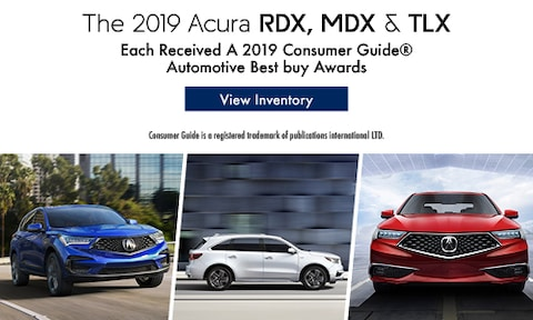 The 2019 Acura RDX, MDX & TLX