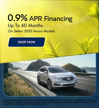 March - 0.9% APR Financing On Select 2020 Acura Models