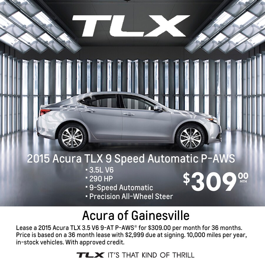 2015 Acura TLX Lease Special
