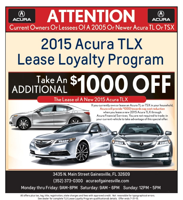 Acura TLX Lease Loyalty Program