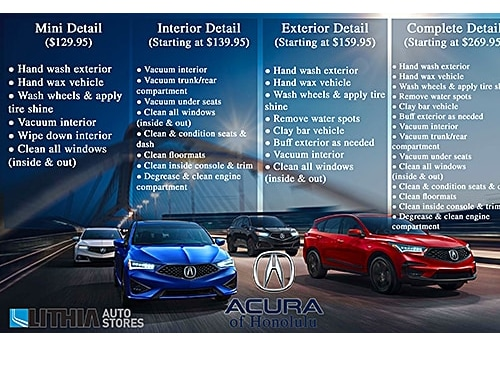 Acura Oil Change Coupon >> Acura Service Specials And Offers Acura Of Honolulu