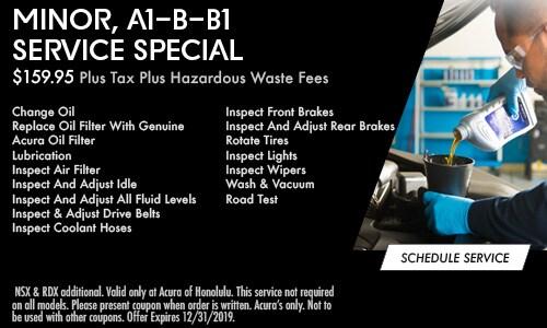 Minor, A1-B-B1 Service Special