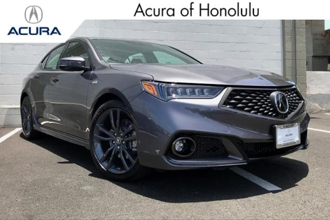 New 2020 Acura TLX with A-Spec Package and Red Interior Sedan Honolulu