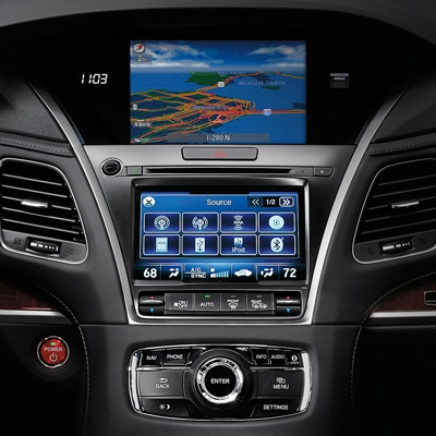 2017 Acura RLX Display and Audio Systems