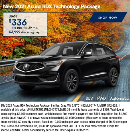 New 2021 Acura RDX Technology Package