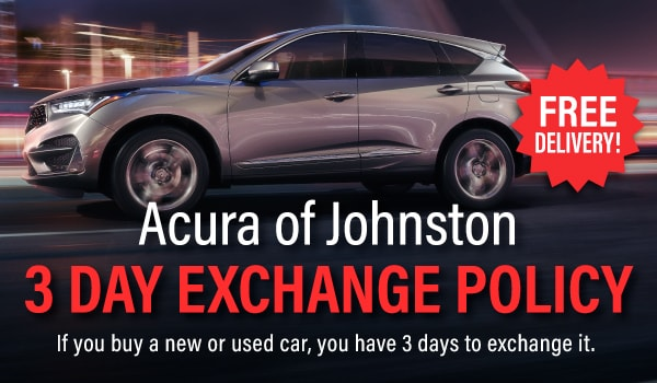 3 Day Vehicle Exchange Policy