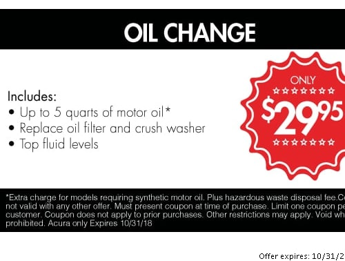 Acura Service Specials In Johnston Acura Of Johnston - Acura coupons oil change