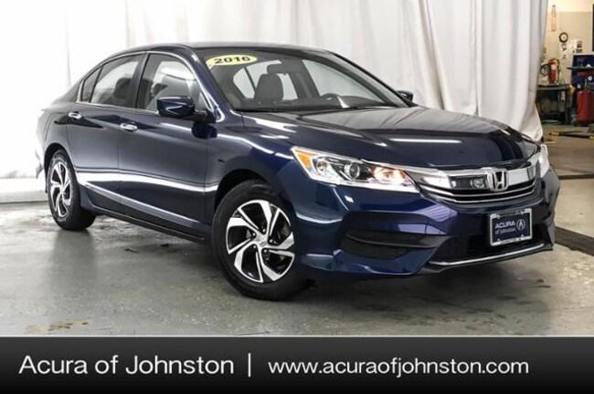Used 2016 Honda Accord LX Sedan Johnston, IA