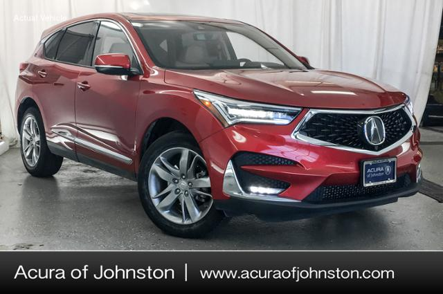 Used 2019 Acura Rdx Advance Package Suv Performance Red Pearl For