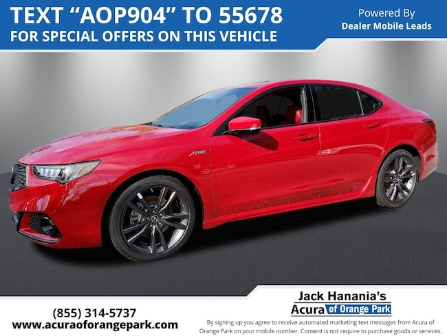 2019 Acura TLX 2.4 8-DCT P-AWS with A-SPEC RED 2.4L FWD w/A-Spec Pkg Red Leather