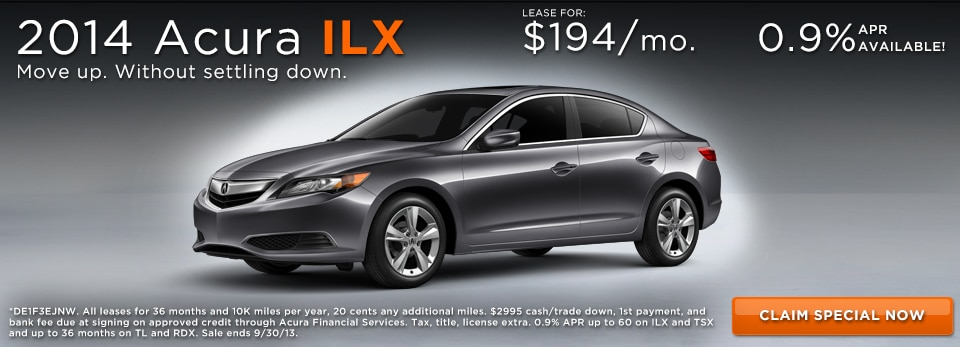 Monthly Special Acura ILX Lease At MA Acura Dealer - Acura ilx lease