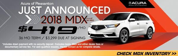 New Acura Lease Specials Acura Of Pleasanton - Acura mdx lease deals
