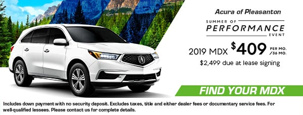 Acura Mdx Lease >> Acura Lease Finance Specials In Pleasanton Ca