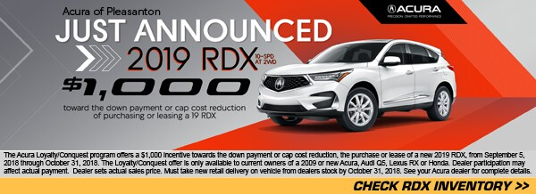 New Acura Lease Specials Acura Of Pleasanton - Acura rdx lease prices paid