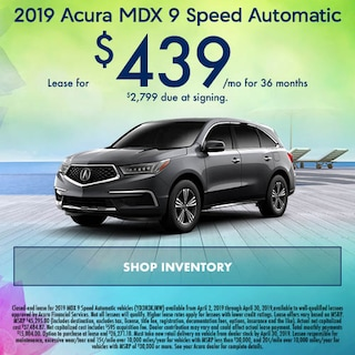 April 2019 Acura MDX 9 Speed Automatic