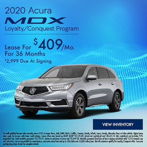 2020 Acura MDX Loyalty/Conquest Program