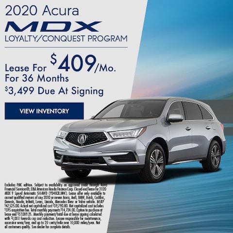 2020 Acura MDX Loyalty/Conquest Program