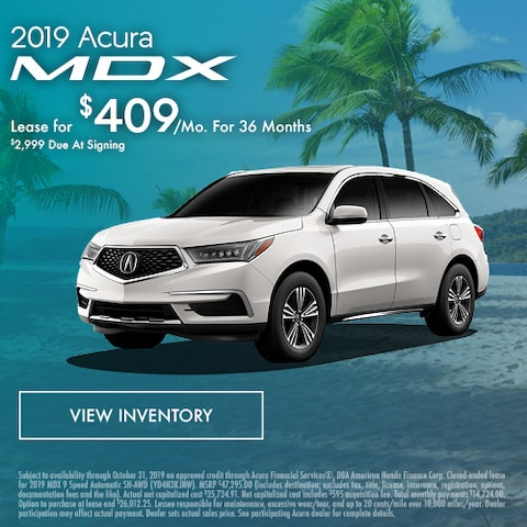 2019 Acura MDX - Lease