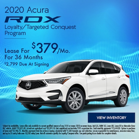2020 Acura RDX Loyalty/Targeted Conquest Program