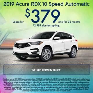 April 2019 Acura RDX 10 Speed Automatic