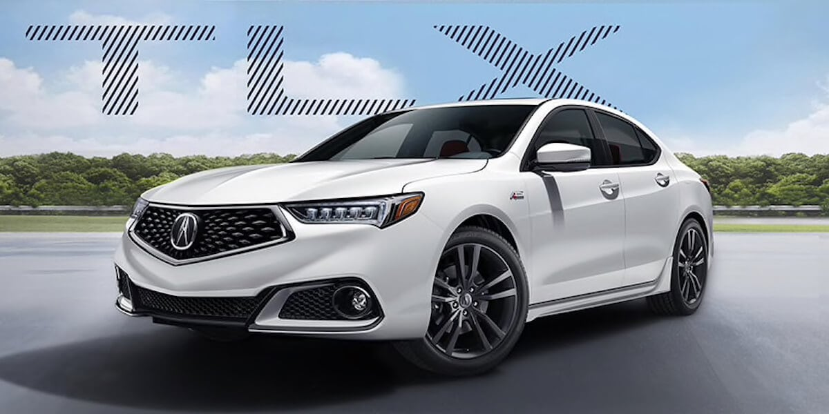 Front shot of 2019 Acura TLX in white