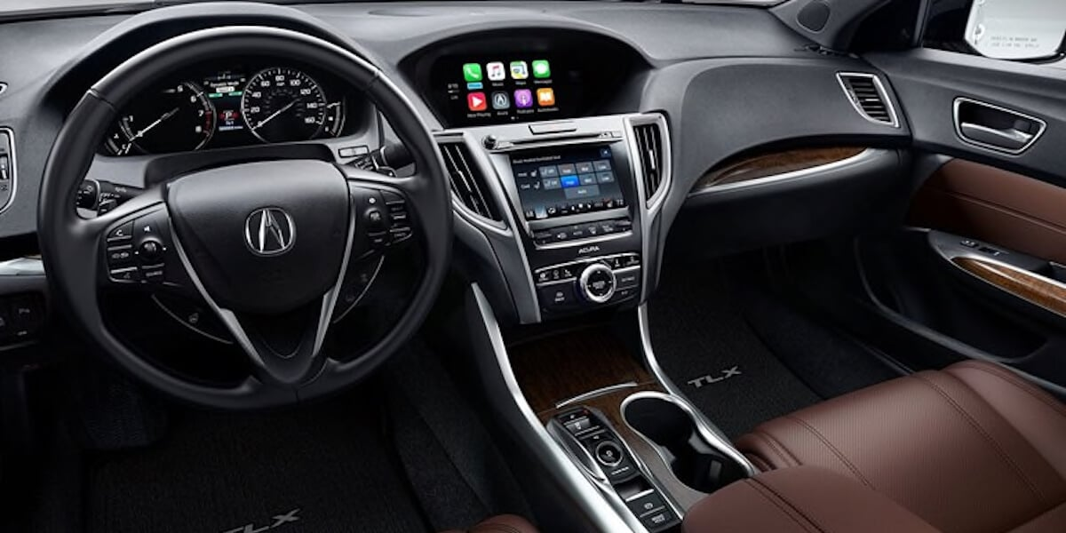 2019 Acura TLX black interior