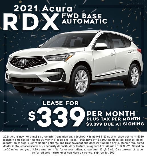 2021 Acura RDX FWD Base Automatic