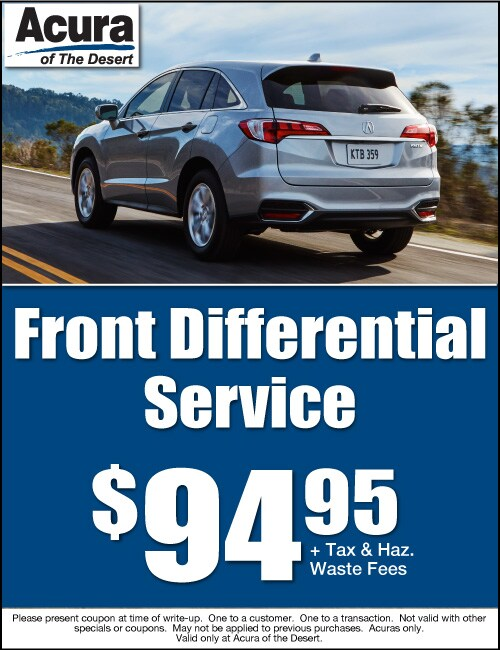 Acura Of The Desert New Acura Dealership In Cathedral City CA - Acura dealer service coupons