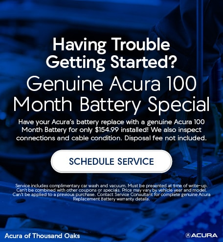 Genuine Acura 100 Month Battery
