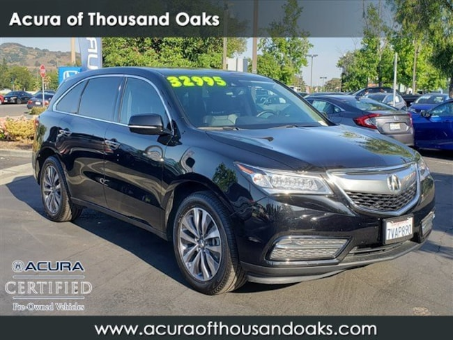 Acura Thousand Oaks >> Used 2016 Acura Mdx For Sale At Acura Of Thousand Oaks Vin