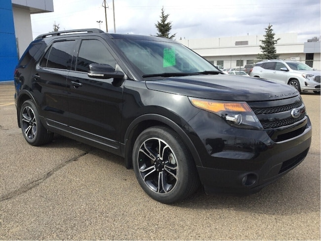 Certified Used 2015 Ford Explorer Sport, V6, Leather, Heated Front & Middle Seats SUV Wetaskwin
