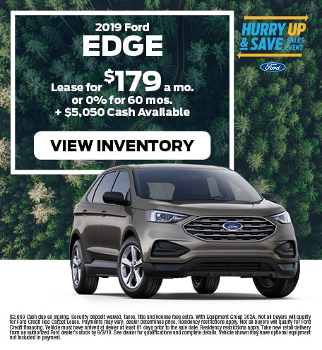 New 2019 Ford Edge 7/12/2019