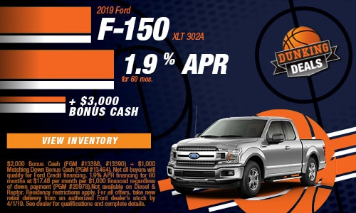 New 2019 Ford F-150 3/8