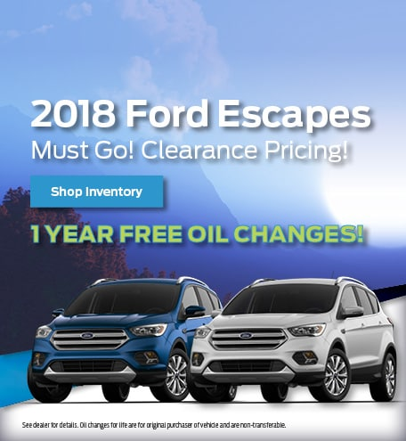New 2018 Ford Escapes Clearance 8/20/2019