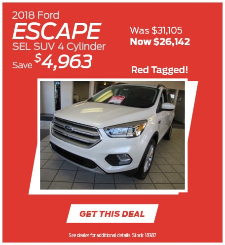 2018 Ford Escape SEL SUV 4 Cylinder 10/28/2019