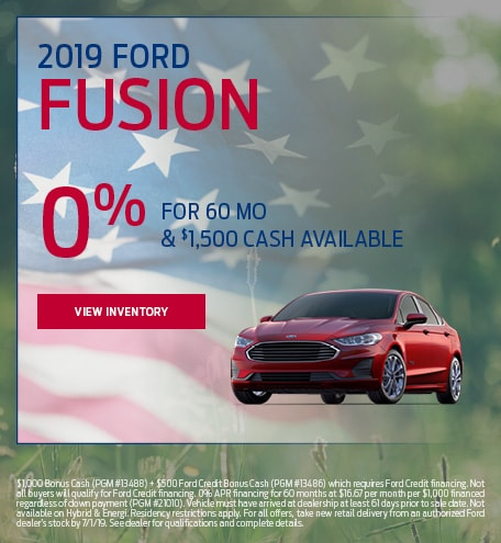 New 2019 Ford Fusion 5/9/2019